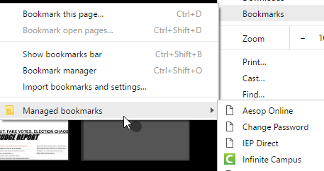 Google Chrome Managed Bookmarks | Trials of a Network Admin